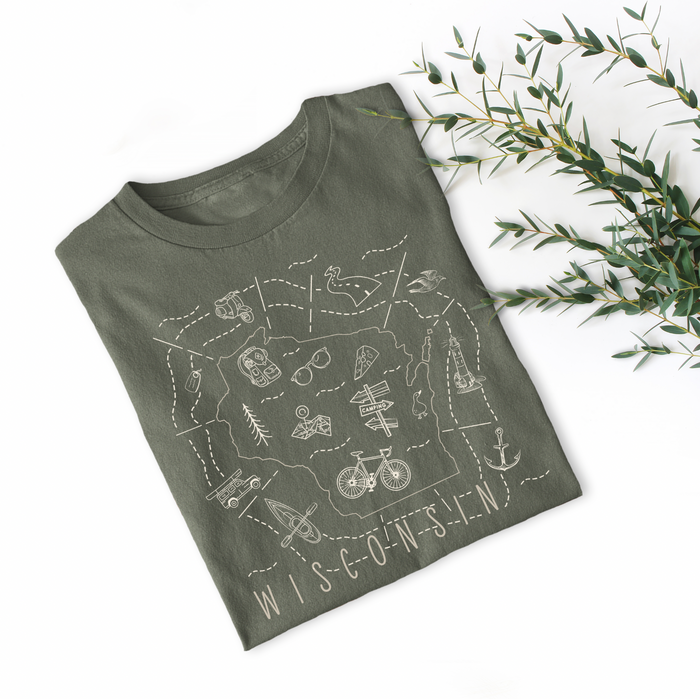 Illustrated Wisconsin Shirt By Printed Marketplace