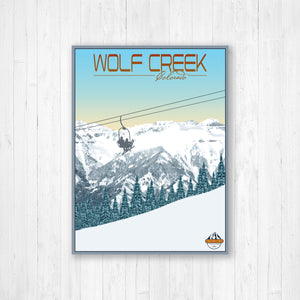 Wolf Creek Colorado Modern Illustration Print by Printed Marketplace