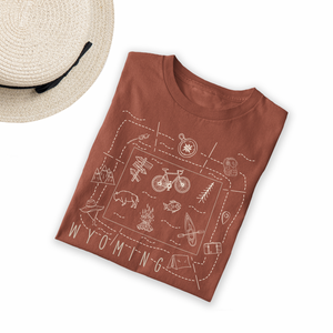 Illustrated Wyoming Shirt By Printed Marketplace