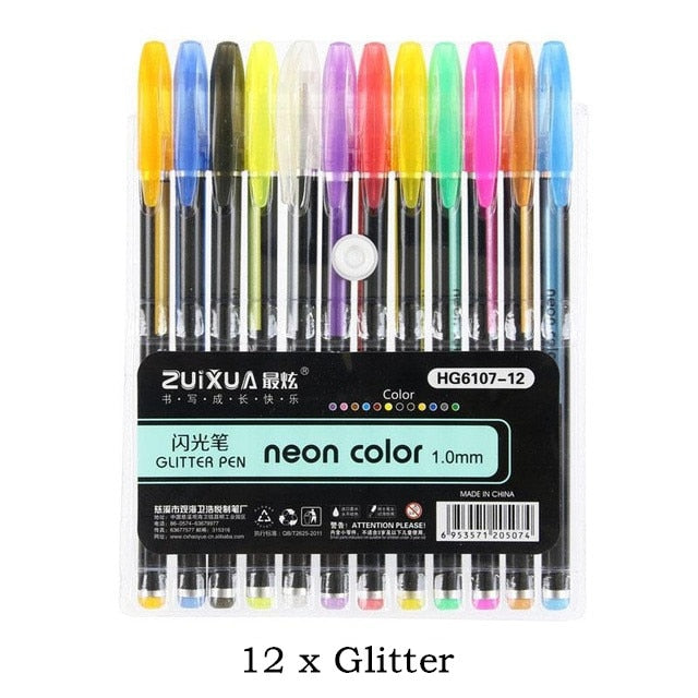 Glitter Gel Pen For Coloring Books 70 Off Canvas Express