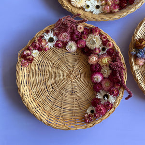 Dried Flower Wicker Plate