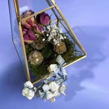 Load image into Gallery viewer, Rose & Hydrangea Prism Terrarium