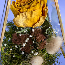 Load image into Gallery viewer, Yellow Rose Prism Terrarium