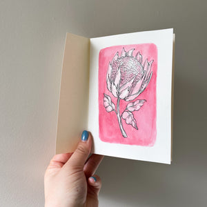 A6 Protea Hand Illustrated Card