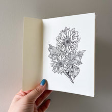 Load image into Gallery viewer, A6 Sunflower Hand Illustrated Card