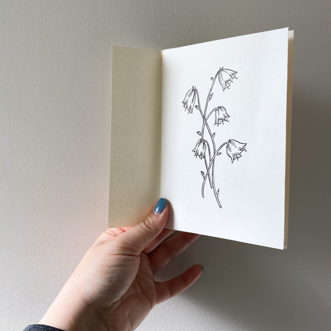 A6 Bluebell Hand Illustrated Card