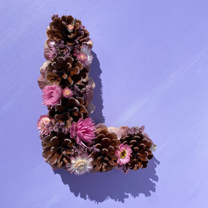 Flower + Pinecone Letter
