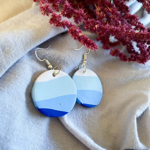 Blue Sunset Dangle Earrings