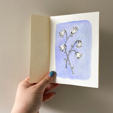 Load image into Gallery viewer, A6 Bluebell Hand Illustrated Card