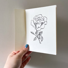 Load image into Gallery viewer, A6 Rose Hand Illustrated Card