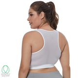 <b>Mesh Back Sports Bra</b> - White