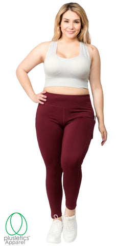 Slim Me Mobile Pocket Tights Burgundy