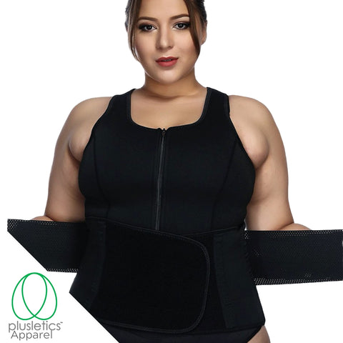 Adjustable Waist Belt & Neoprene Sweat Vest
