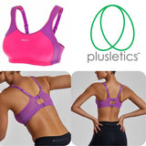 High Impact Wire Free Non-padded Racerback Sports Bra