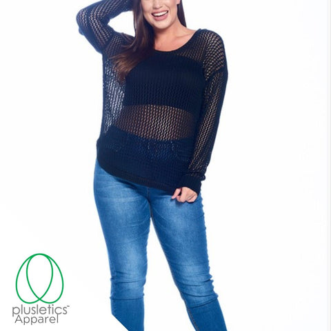 Fishnet Plus Size Sweater