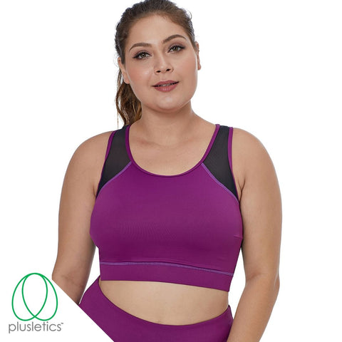 Mesh Back Sports Bra - Fuchsia