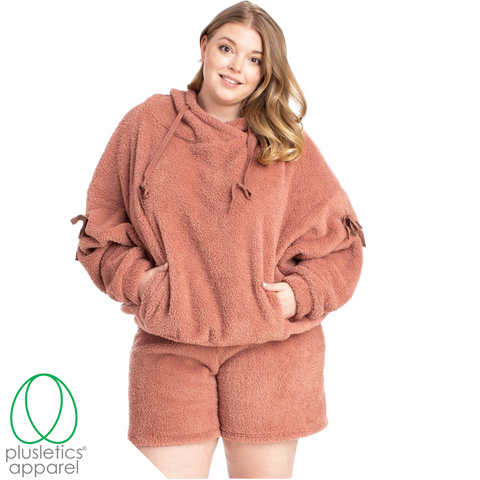 Cozy Girl - Drawstring Hoodie & Short Set