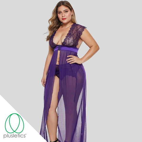 Lover Purple Gown, Garter, & Panty