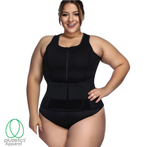 Plus Size Neoprene  Sweat Vest