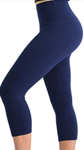 Yoga Capri Leggings Plus Sizes 14 - 22