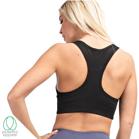 <b>The Basics Racerback Sports Bra </b> - Black