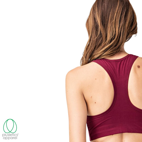 <b>The Basics Racerback Sports Bra </b> - Burgundy