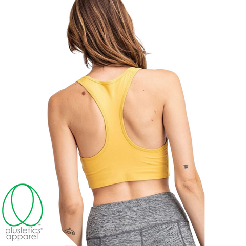 The Basics Racerback Sports Bra - Mustard