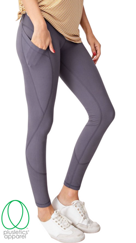 Deep Pockets Leggings - Titanium
