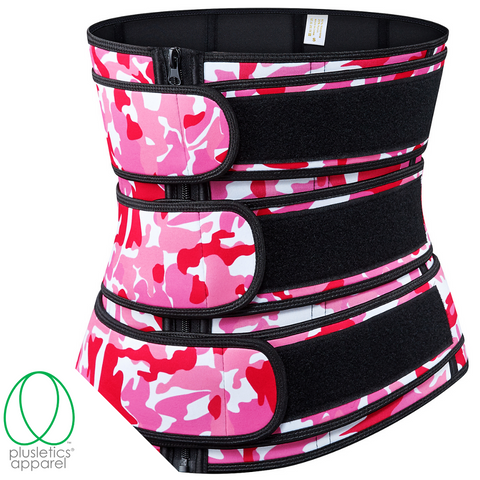 Triple Snatched Neoprene Waist Trainer - Camo Action Pink
