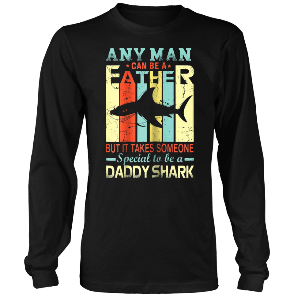 3594f54c Vintage daddy shark any man can-be a father shirt – Teefoods
