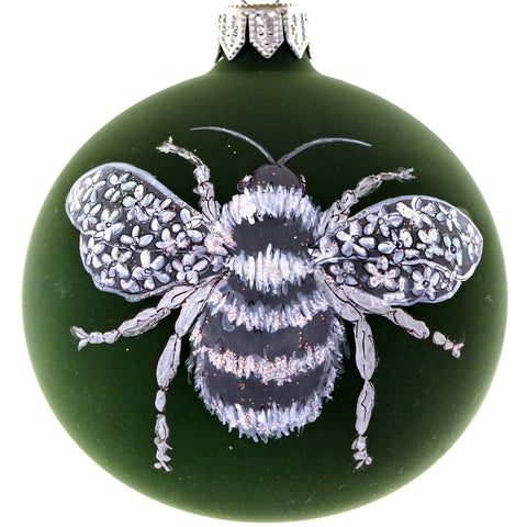 Silver Bee bauble