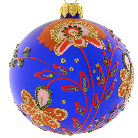 Floral bauble (blue)