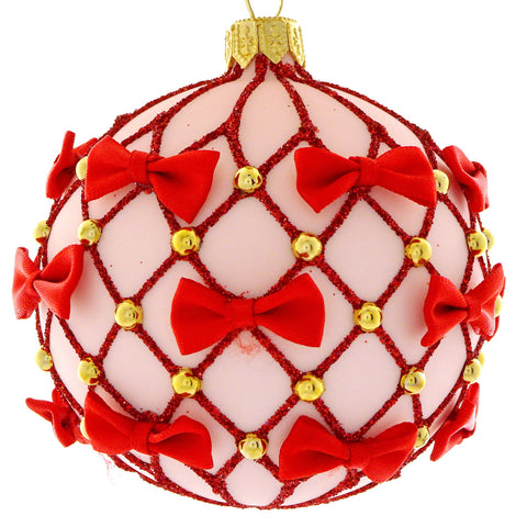 Ribbon bauble (red)