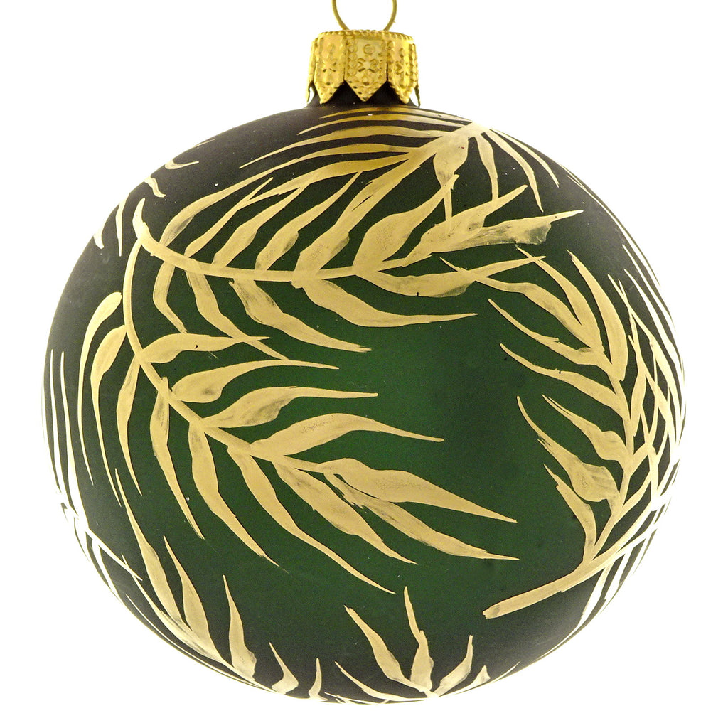 Golden leaf bauble