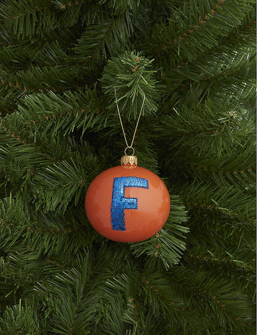 Letter F bauble