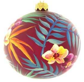 Exotic floral bauble