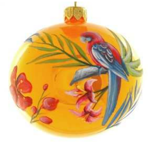 Orange Parrot bauble
