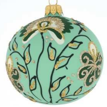 Green floral bauble