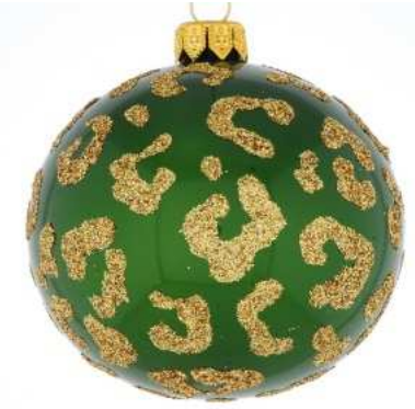 Green Leopard print bauble