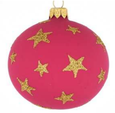 Dark Pink star bauble