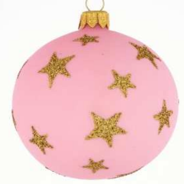 Pink star bauble