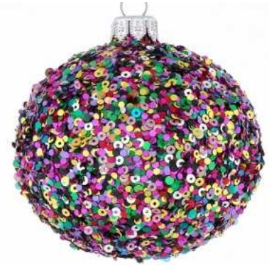 Rainbow sequin bauble
