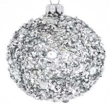 Silver sequin bauble