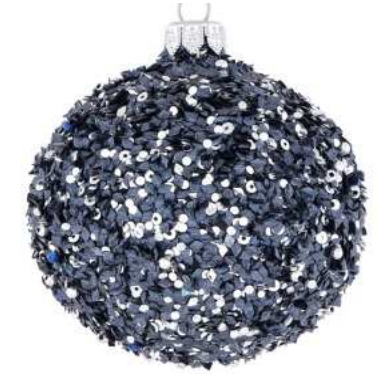 Navy sequin bauble