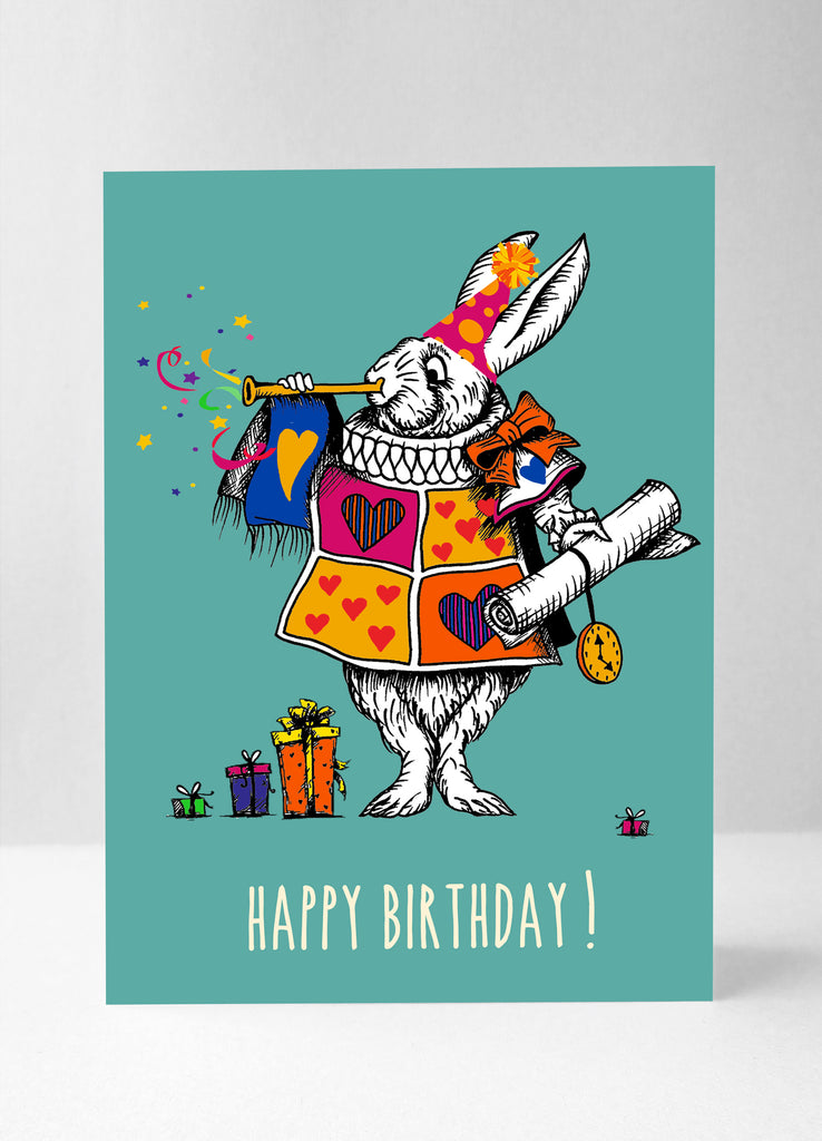The White Rabbit - Colour Happy Birthday