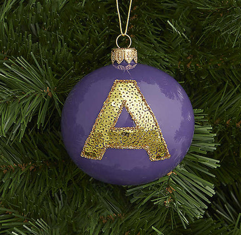Letter A bauble