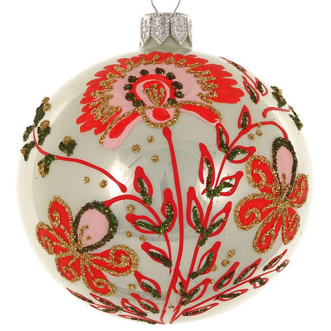 Floral bauble (green)