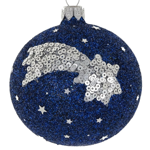 Shooting Star bauble (silver)
