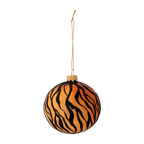 Tiger print bauble