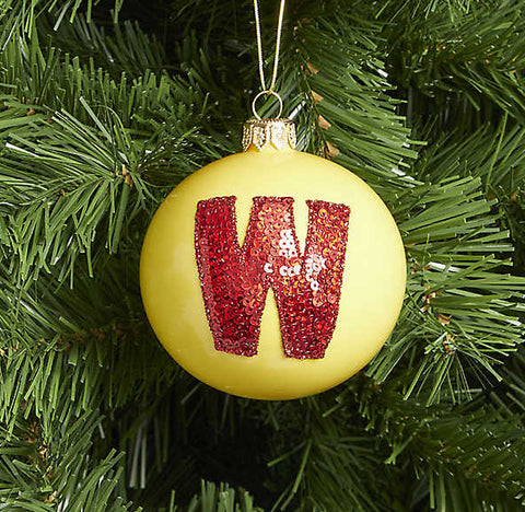 Letter W bauble